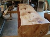 写真:ヒノキのベンチ03