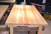 テーブル完成品 檜のテーブル